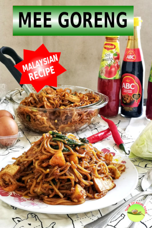 Today I want to introduce a stir-frying noodle with a deep cultural heritage of the Indian Muslim origin in Malaysia - Mee Goreng Mamak. Mee refers to noodles, and goreng means stir-frying in both Malay and Indonesian language.