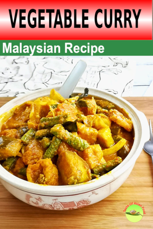 Malaysian Chinese vegetable curry Vegetable dishes are usually described as tasteless for those who like to eat meat, but I am convinced that they will submit to the incredible flavor of this vegetable curry prepared with a myriad of herbs and spices.