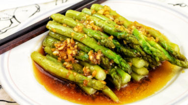 saute asparagus with garlic