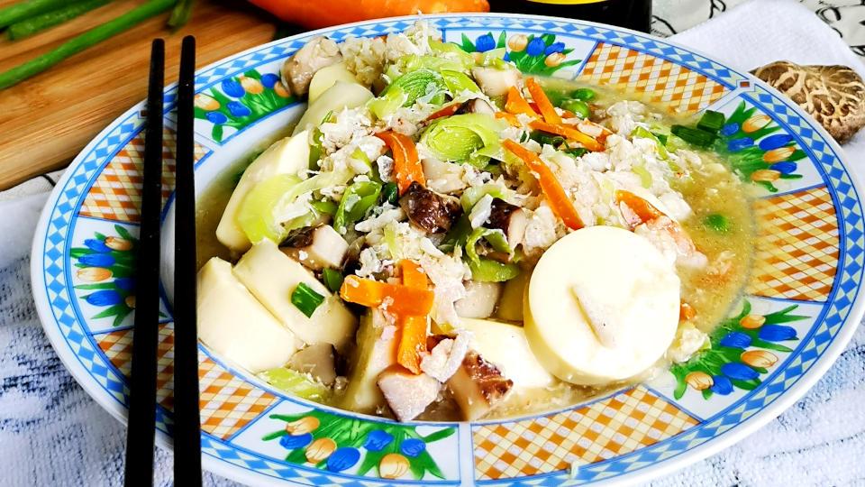 Crab meat with tofu recipe