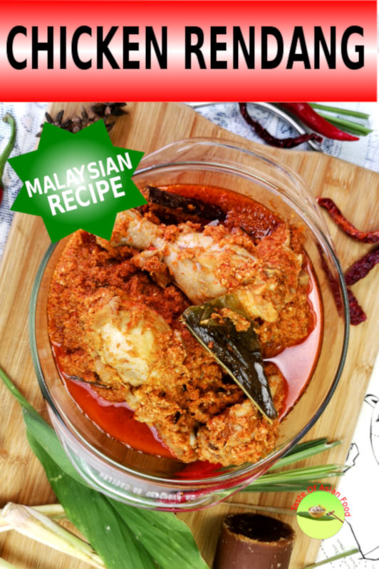 This article is specially written to explain how to prepare the Malaysian style chicken rendang. Here is a detailed explanation of how to cook Malaysian chicken rendang.