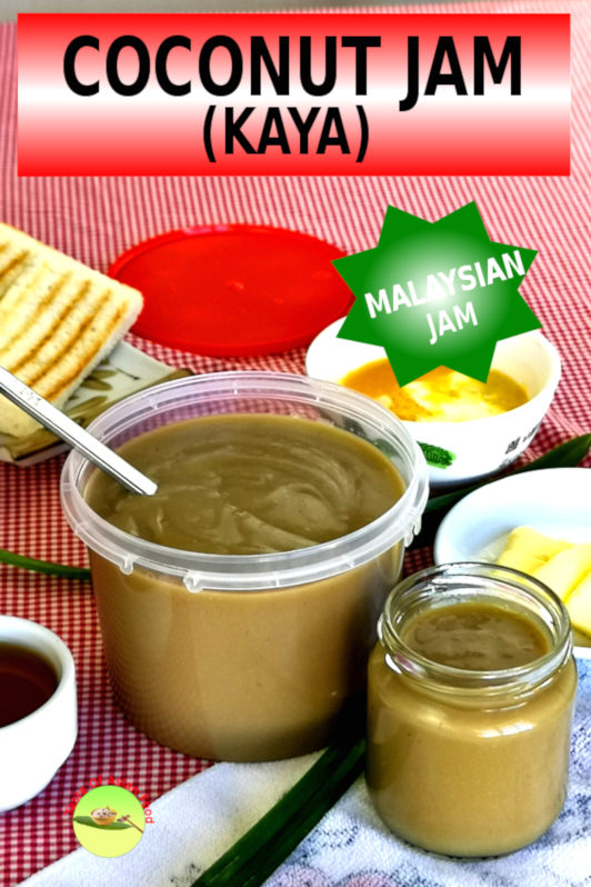Coconut jam, also known as kaya, is the Malaysian recipe equivalent to fruit jam. Find out how to prepare this mouth-watering jam at home.