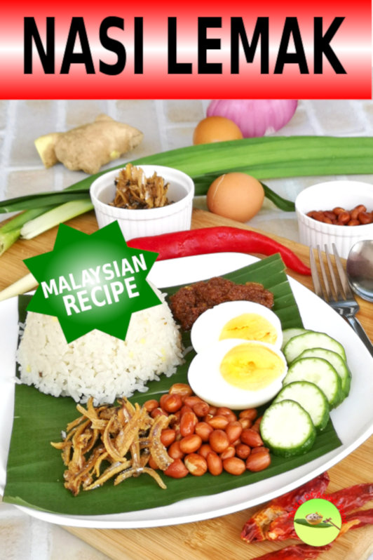 Nasi Lemak 椰漿飯 is the breakfast and lunch staple in Malaysia. This drool-worthy, gluttonous gem is offered in almost every local Malay and Mamak restaurant. Wrapped in paper and banana leaves, this Nasi Lemak Bungkus (wrapped coconut milk rice) has become the quintessential breakfast for the locals.
