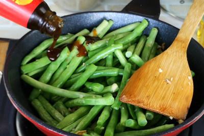 Sauteed green bean - season the green bean