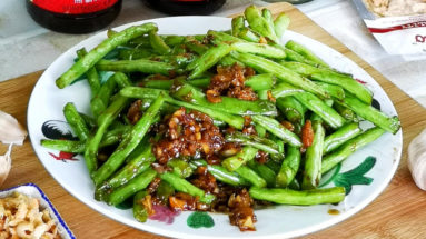 Sauteed green bean with garlic featured image