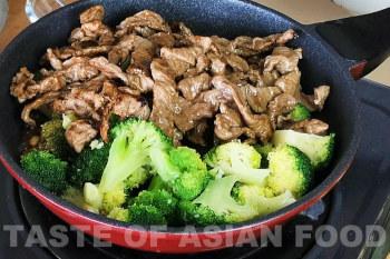 Beef and broccoli stir-fry - add broccoli and beef