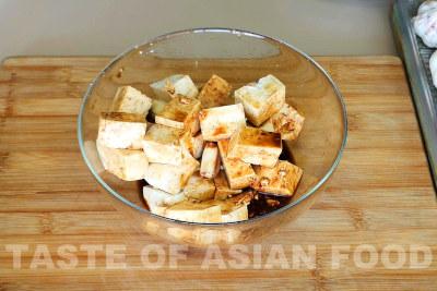 General Tsos tofu - marinate tofu
