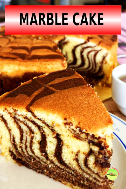 Easy marble cake recipe. It is a pound cake recipe with chocolate streaks, soft, tender, moist. You don't need a marble cake mix, just make from scratch!
