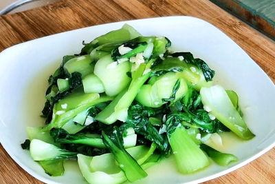Stir fry Chinese vegetables - serve