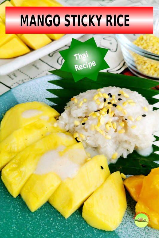 Mango sticky rice is an amazing and authentic Thai dessert. It is typical street food in Thailand, especially during summer, when mango is in season.