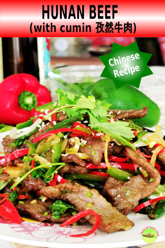 Hunan beef with cumin is a home cook dish that is hot and spicy, flavor with cumin.