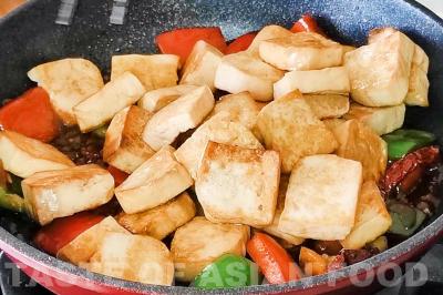 kung pao tofu - add tofu