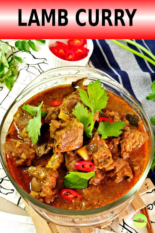 This lip-smacking lamb curry is just delicious layered upon delicious. It is a hybridized curry that leans heavily on Indian origin and is perfumed with a unique blend of Malaysian curry powder. The intermingling of flavors immediately brightens up the curry once it is added to the lamb.