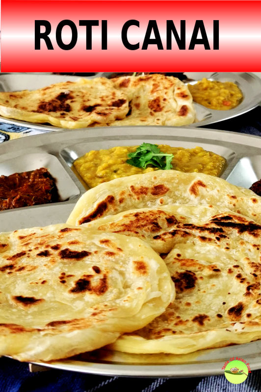 Roti canai is an Indian-influenced flatbread popular in Malaysia and Singapore. It is a staple for most of the locals for breakfast.