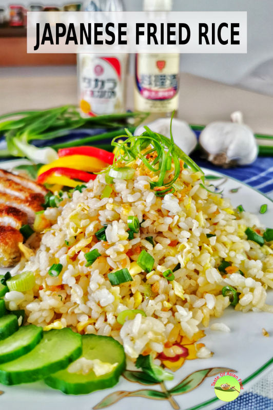 This Japanese fried rice with garlic is quick and easy, which takes only 20 minutes to prepare.