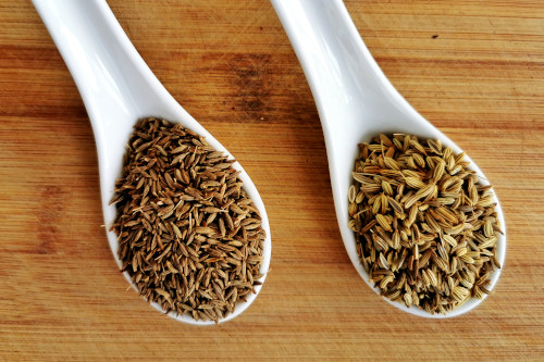 cumin and fennel seeds