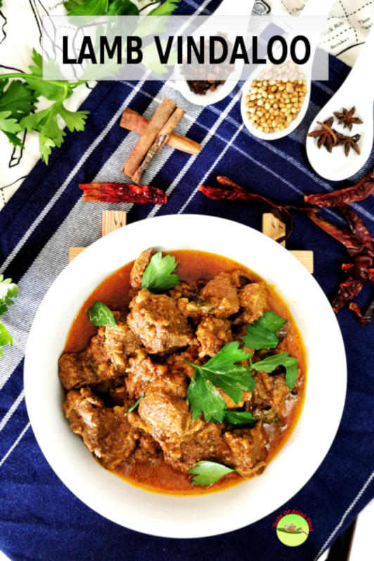 Lamb vindaloo is a classic Goan curry with an intense flavor of spices with a deep earth undertone