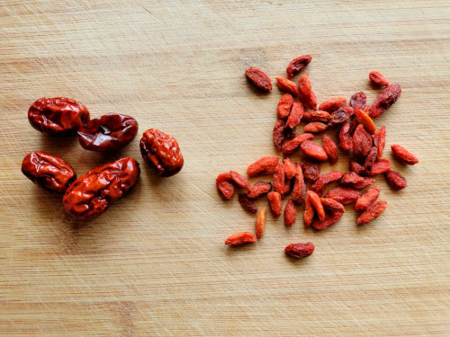 red dates and goji berries