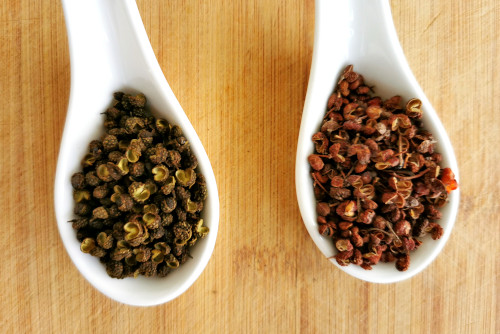 Szechuan peppercorns for mala Chinese hot pot