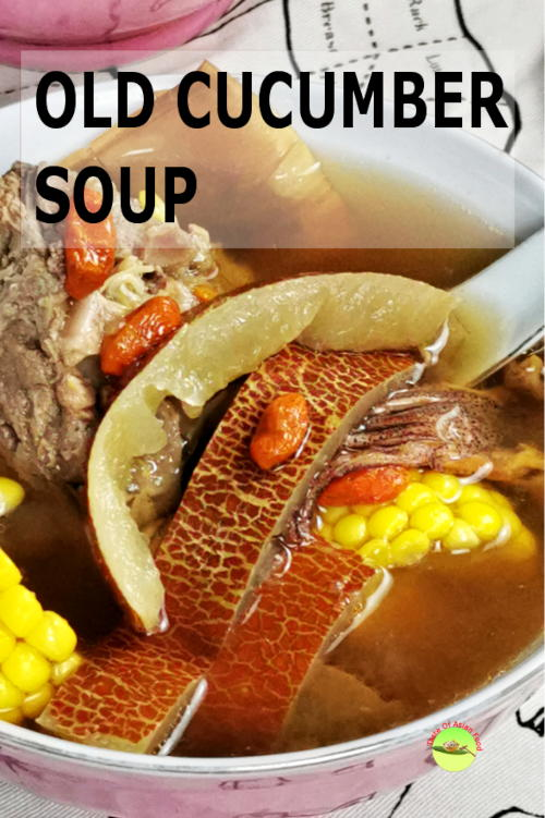 Best pork ribs soup with old cucumber
