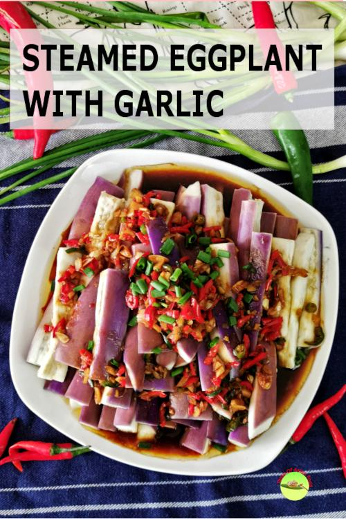 Steamed eggplant with garlic sauce - How to cook a better and healthier eggplant dish