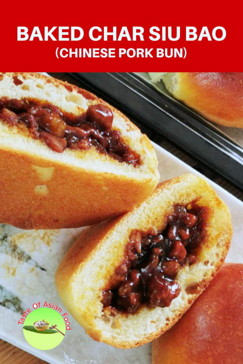 baked char siu bao (叉烧餐包) is different from the steamed Chinese pork bun. Traditionally Char Siu Bao is a steamed meat bun mainly served in Dim Sum restaurants during breakfast. The baked version comes to popularity due to the hybrid of dinner rolls and the steamed pork buns.