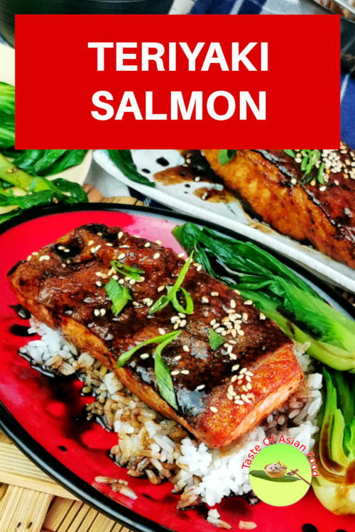 This easy teriyaki salmon recipe is surprisingly delicious, with a combination of sweet, salty, and savory tastes. The teriyaki salmon recipe is prepared with homemade authentic teriyaki sauce and does not require lengthy marinating.  Once the skin is perfectly sear, it will remain crispy even after doused in the sauce.