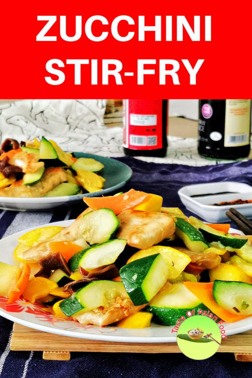 Zucchini stir fry with chicken is fast, easy to cook, healthy, and is ready in 25 minutes. Zucchini is also called courgette.