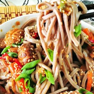 Teriyaki noodles featured image
