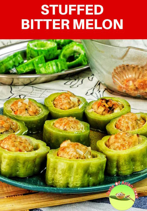 Stuffed bitter melon recipe. with minced meat and mushroom. Great Cantonese homecook recipe.