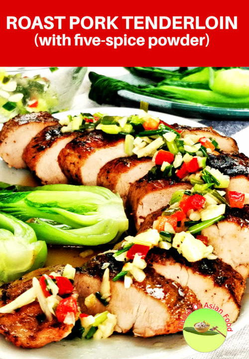 Here is the best roast pork tenderloin recipe seasoned with Chinese five-spice powder that is juicy inside with a well-seared crust.