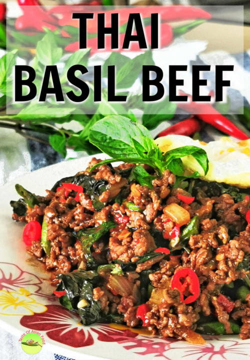 Savory, spicy, and packed with the flavor of basil and fish sauce, that is what flashes across my mind when I think of Thai basil beef. Thai basil beef is so versatile that it can be served as Thai basil beef noodles or Thai basil beef bowl top with a fried egg.