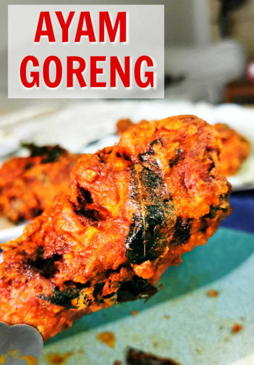 Ayam goren (Malaysian fried chicken) is spicy, aromatic, full of curry flavor and addicitve. The Malaysian curry powder is the indispensable ingredient to create the unique flavor.