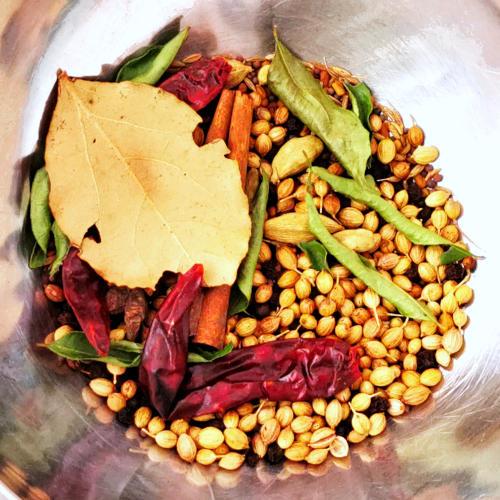 spices for Madras curry powder