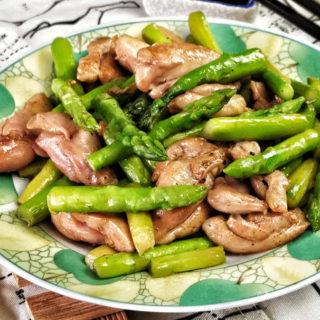 asparagus chicken stir-fry featured image