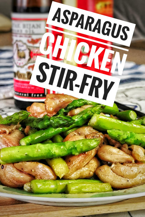 Asparagus chicken stir-fry is the quick and easy Cantonese recipe worth including in your regular dinner rotation.  It is a simple and delicious balanced meal.