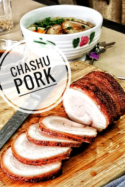 Chashu pork recipe- How to make melt in the mouth Japanese ramen chashu pork   Make this chashu (Japanese braised pork belly) at home. Braise in a soy sauce-based savory and sweet liquid, then pan sear to perfection. Best to serve with ramen.