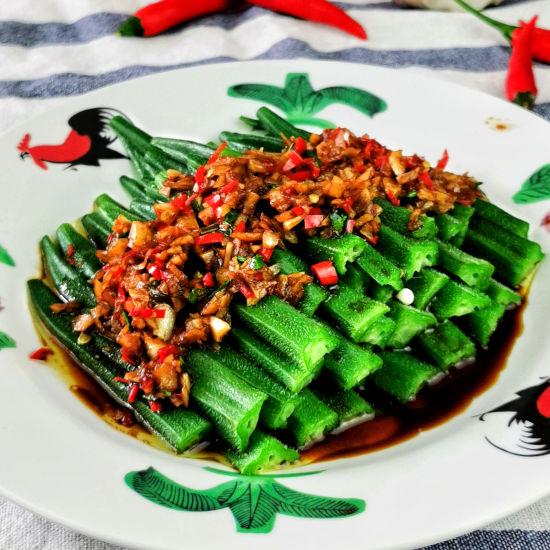 Chinese okra recipe with chili garlic sauce (3)